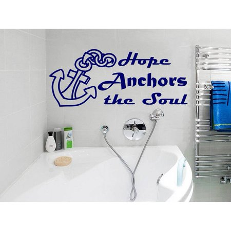 Stickalz Llc Anchor Quotes Vinyl Quote Hope Anchors The Soul Phrase