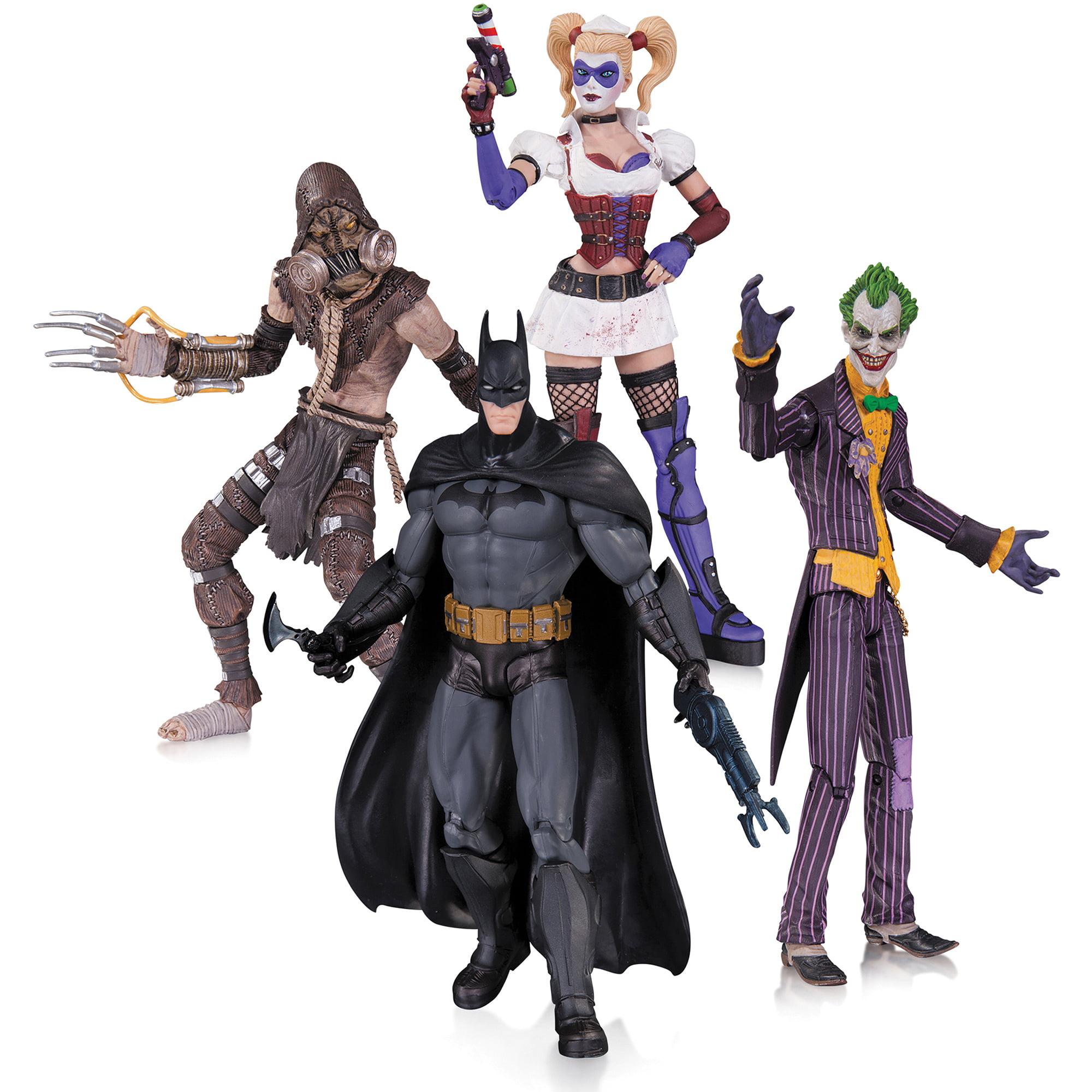 DC Comics Arkham Asylum 4-Pack Action Figure Set, Joker, Harley Quinn, Batman and... by Generic