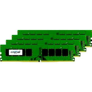 Crucial 64GB (4x16GB) DDR4 SDRAM 2133 MHz 1.2V Unbuffered 288-pin DIMM Memory