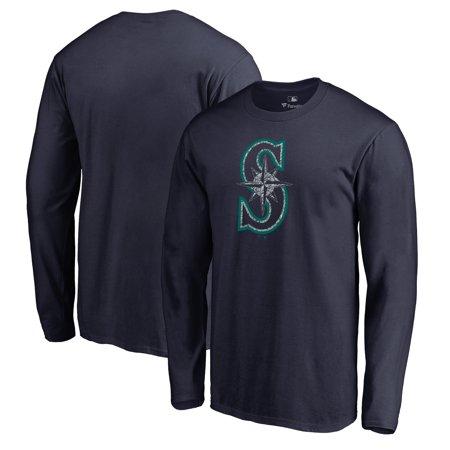 Seattle Mariners Fanatics Branded Static Logo Long Sleeve T-Shirt - Navy
