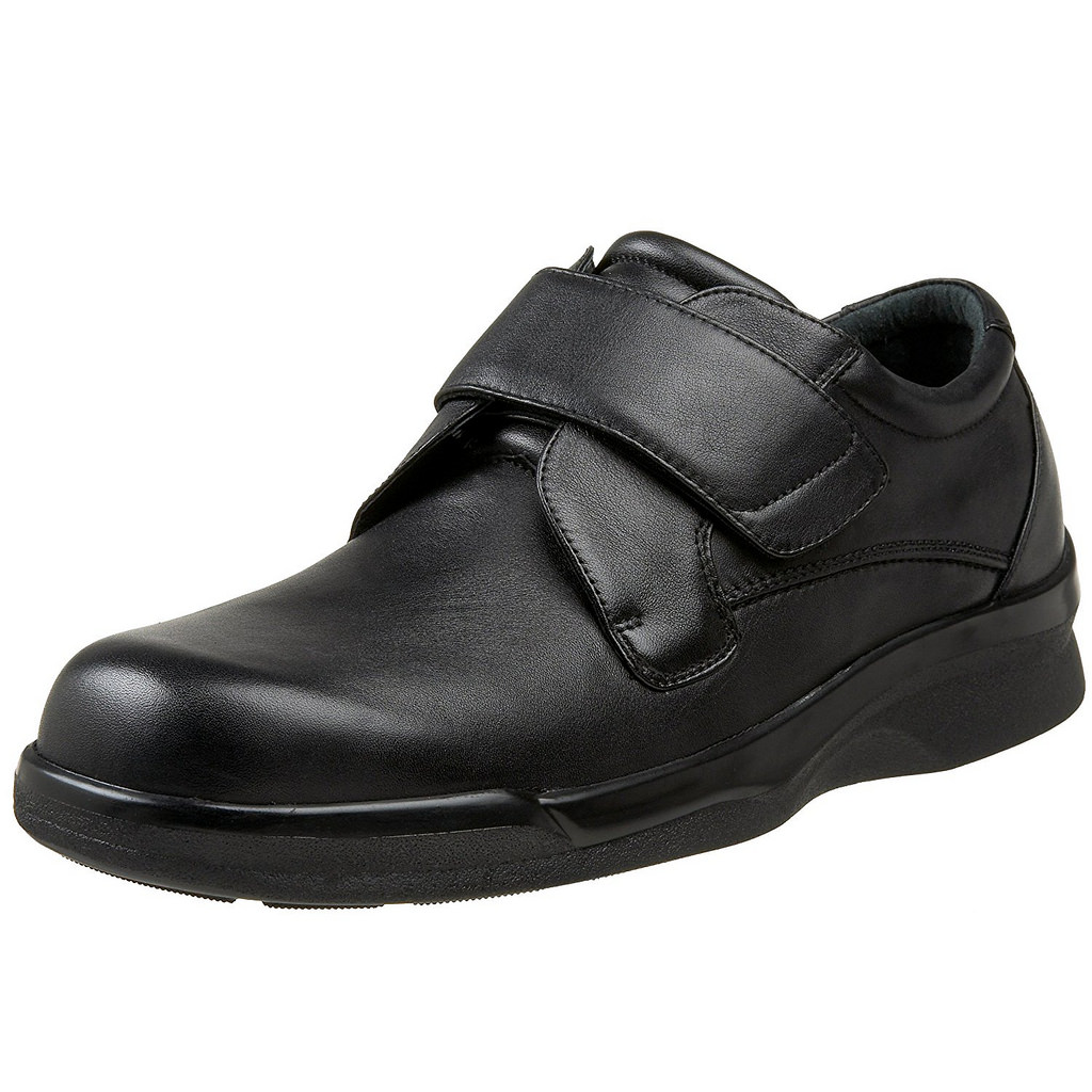 Aetrex Ambulator BV3000 Men's Black Single Strap Walking Shoe by Aetrex