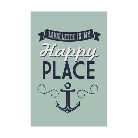 Lavallette, New Jersey - Lavallette Is My Happy Place (#1) Print Wall Art By Lantern Press ()