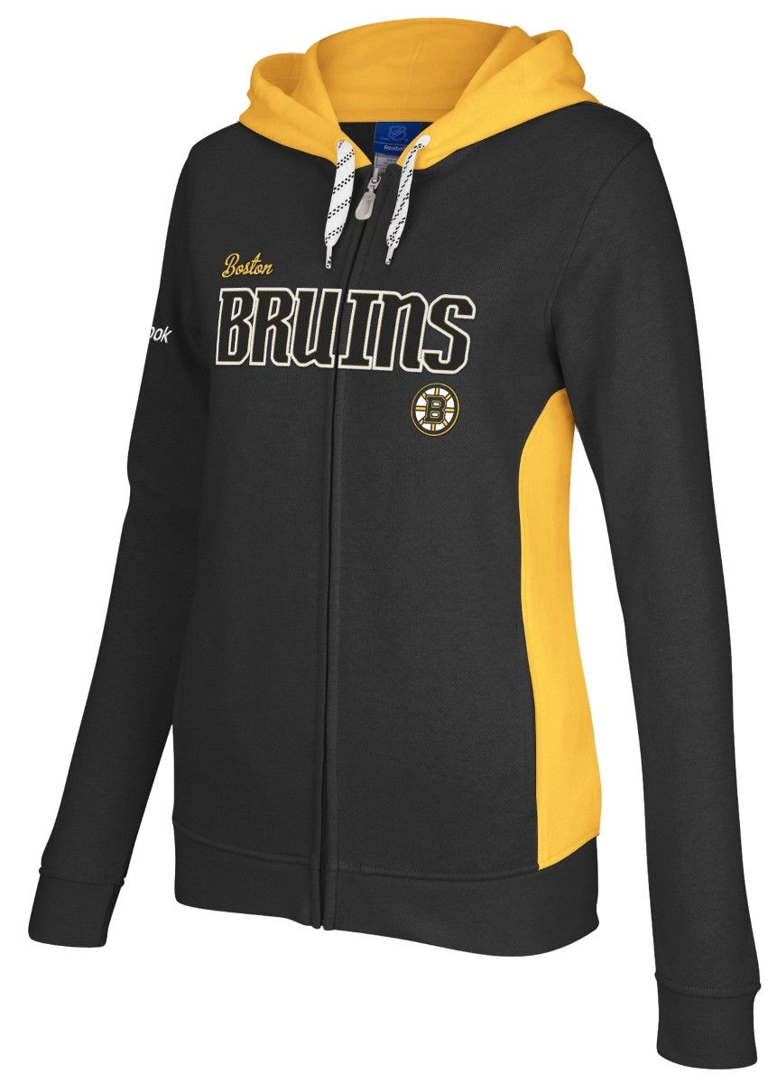 Boston Bruins Boys Full Zip Hooded Sweat Shirt by REEBOK NHL