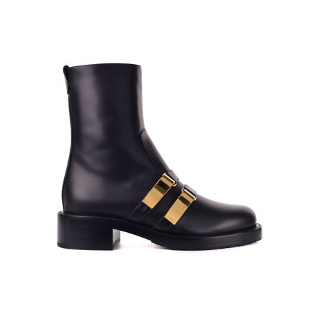 ea4b6daeb71 Dior Womens Black Leather D-Race Ankle Boots