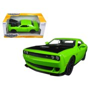 2015 Dodge Challenger SRT Hellcat Green 1/24 Diecast Model Car by Jada
