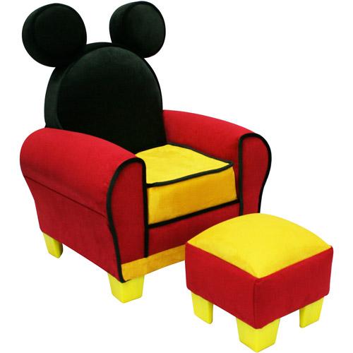 Disney Mickey Mouse Toddler Chair And Ottoman Set   Walmart.com