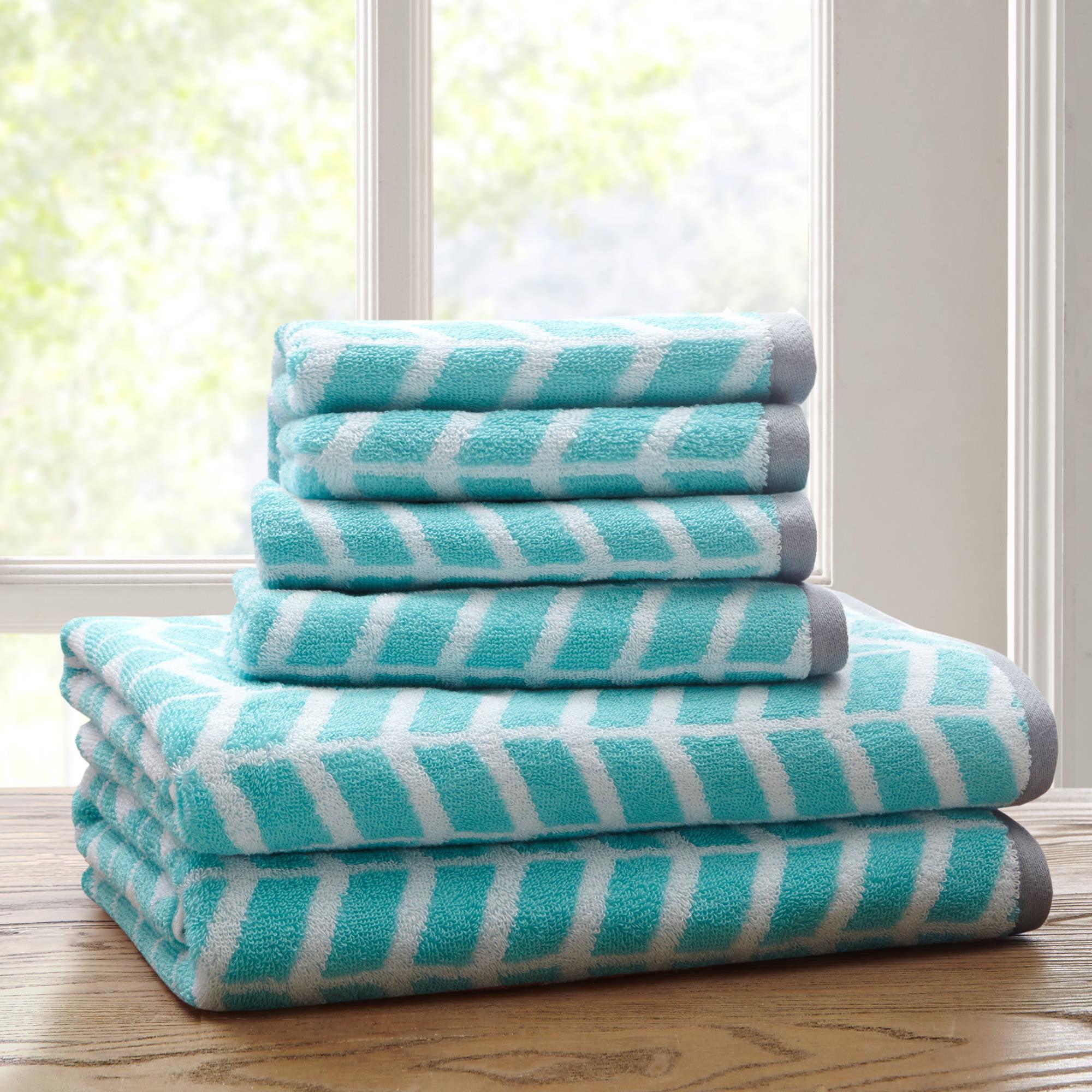 Home Essence Apartment Darcy 6 Piece Cotton Jacquard Towel Set