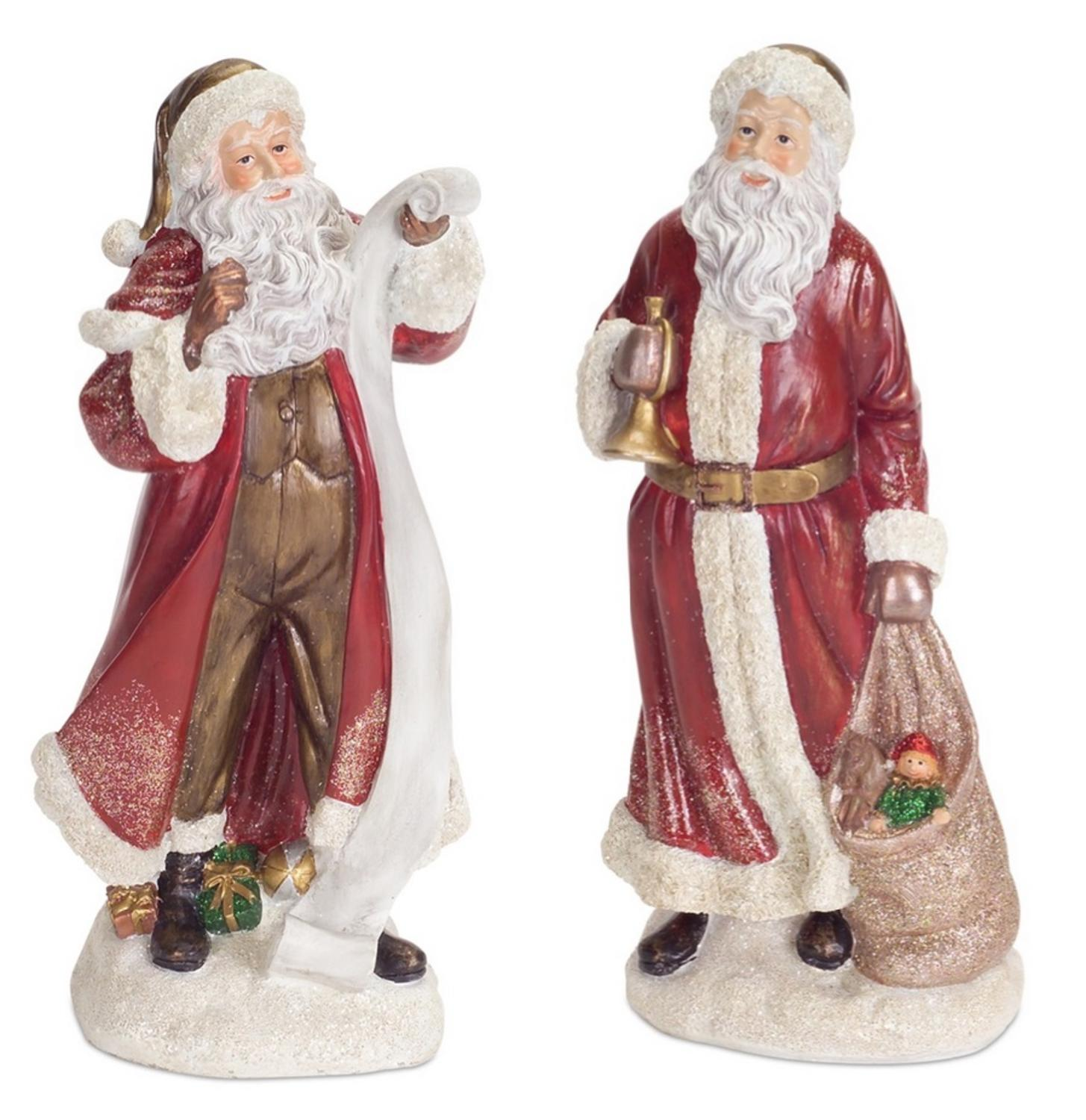 Pack of 4 Traditional Victorian Style Santa Claus Table Top Christmas Decoration 10