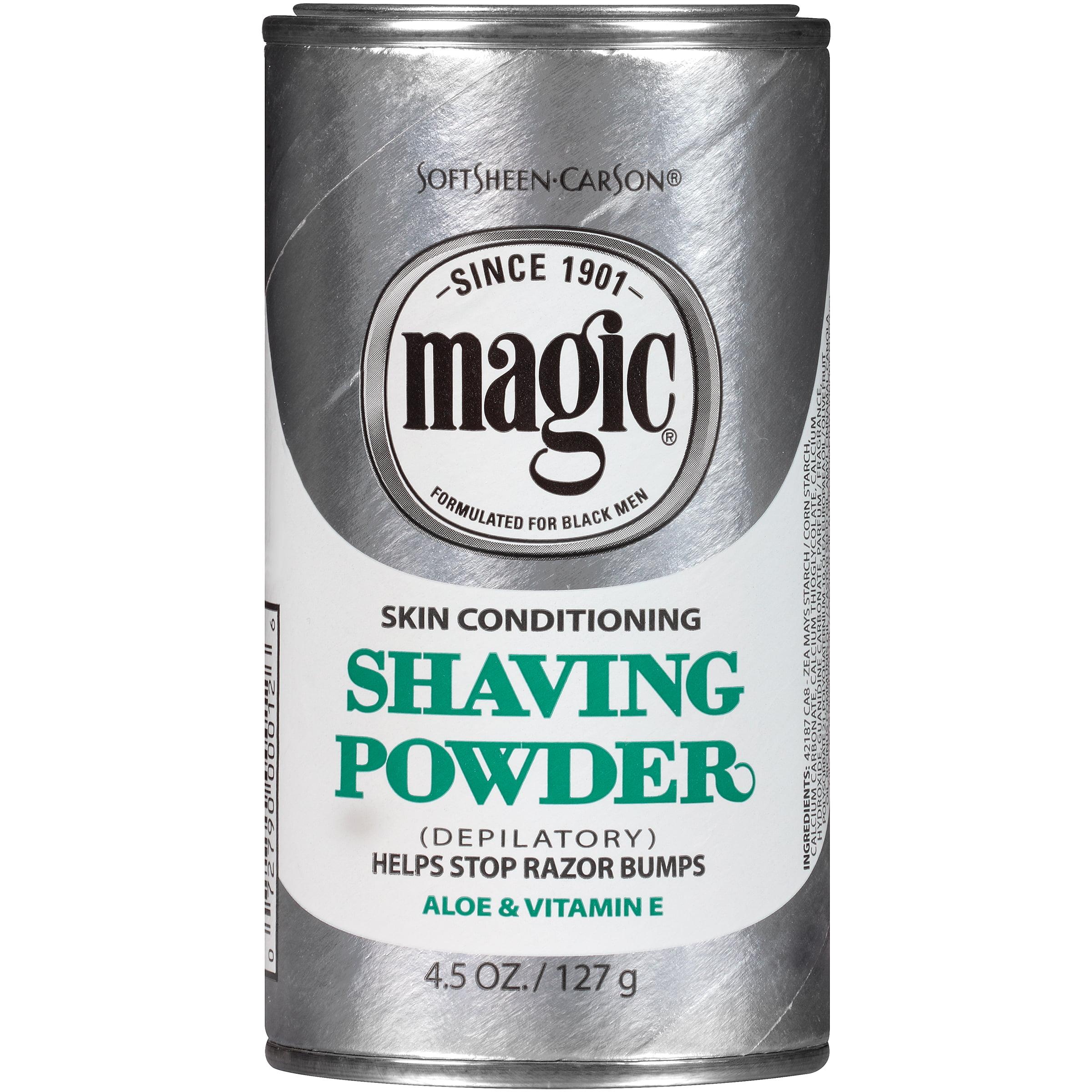 Softsheen Carson Magic Shave Power Skin Conditioning Shaving Powder With Vitamin E And Aloe Depilatory 5 Oz Walmart Com Walmart Com
