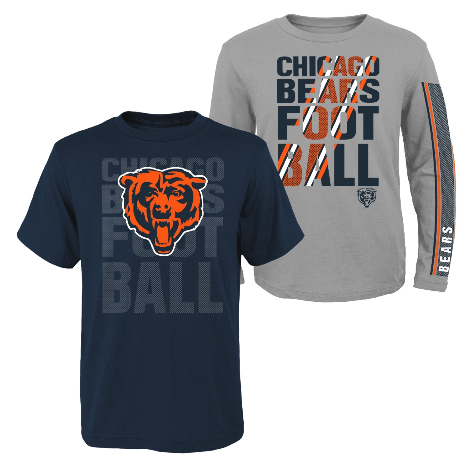 """Chicago Bears Youth NFL """"Playmaker"""" 3 in 1 T-Shirt Combo Set"""