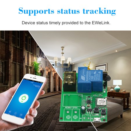 eWeLink USB DC5V 30A RF 433MHz Wifi Switch Wireless Relay Module Smart Home  Automation Modules With RF433MHz Remote Controller Phone APP Remote