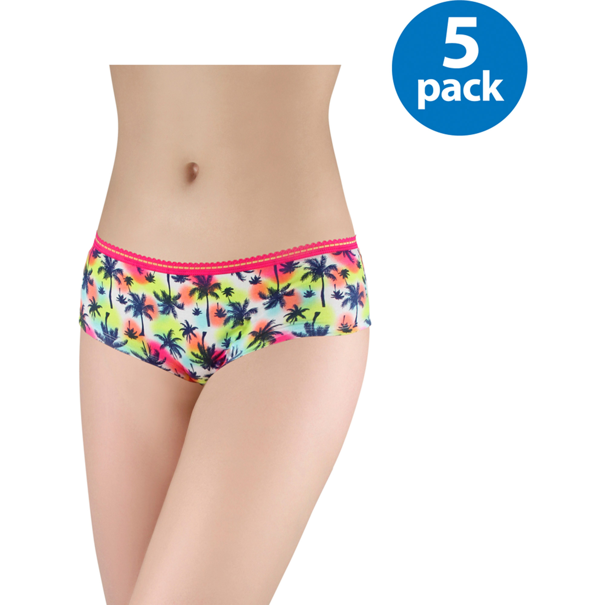 No Boundaries Juniors Cotton Hipsters 5-Pack