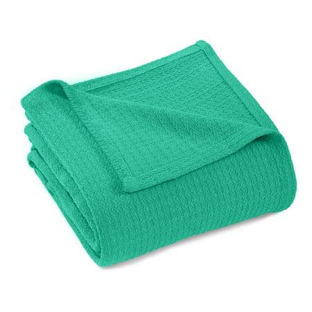 Impressions Solid Woven Cotton Throw Blanket - Walmart.com