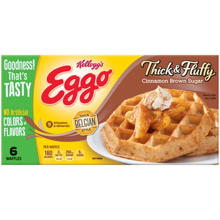 Kellogg's Eggo Thick & Fluffy Cinnamon Brown Sugar Waffles, 6 count ...