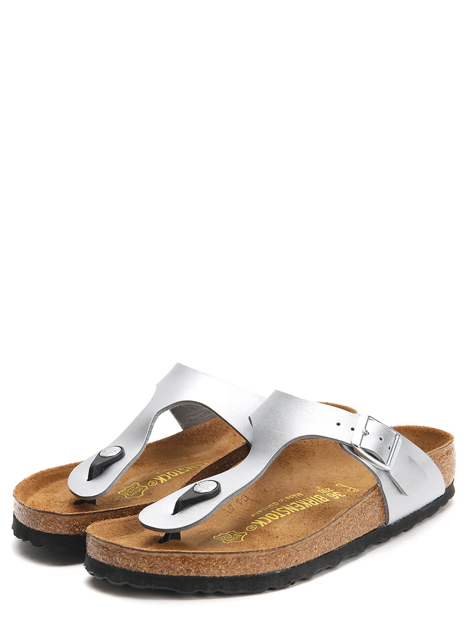 Birkenstock Gizeh Leather Cork U Silver Ankle-High Leather Sandal 8M   6M by Birkenstock
