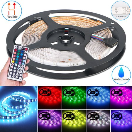 EEEKit 16.4ft/5M 3528SMD RGB 300LEDs LED Rope Lights Flexible Strip Lighting Indoors Halloween Christmas Decoration