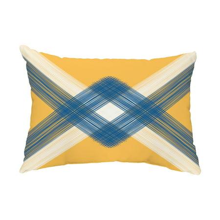 String Art 14x20 inch Yellow Decorative Nautical Outdoor Pillow ()