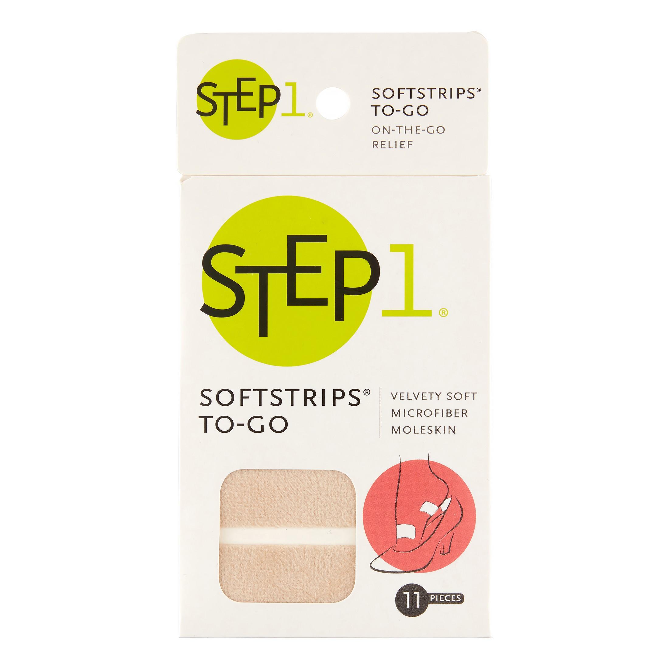 ProFoot Step 1 Softstrips To-Go Microfiber Moleskin, 11 Ct