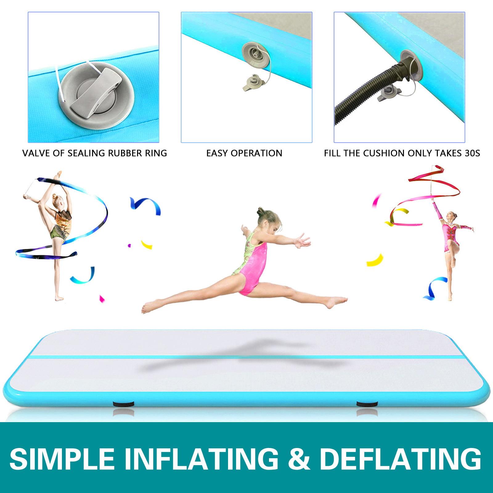 VEVOR 16FT Air Track Inflatable Airtrack Tumbling Gymnastics Mats Cheerleading