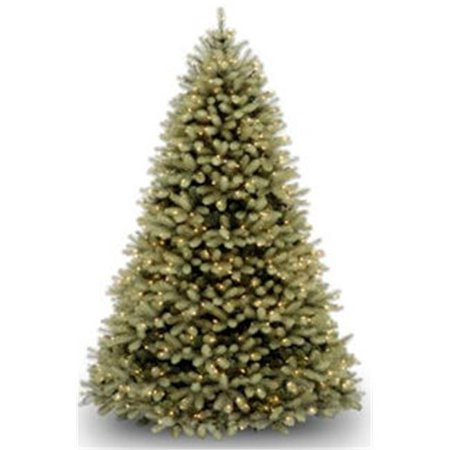 "National Tree Pre-Lit 10' ""Feel-Real"" Downswept Douglas Hinged Artificial Christmas Tree with 1000 Clear Lights"