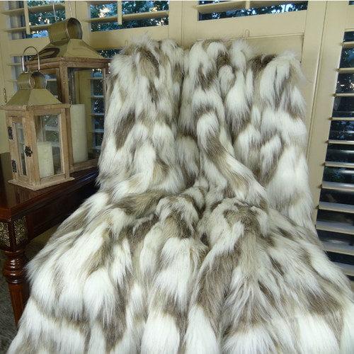 Plutus Brands Tibet Fox Handmadee Faux Acrylic Throw