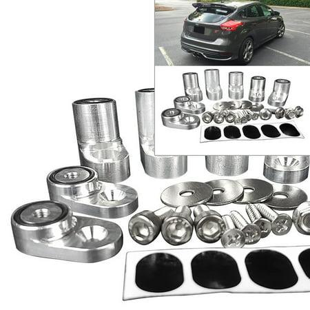 Raiser Kit For 13-Up Focus ST Hatchback Spoiler Lip Pedestal Wing Riser Silver