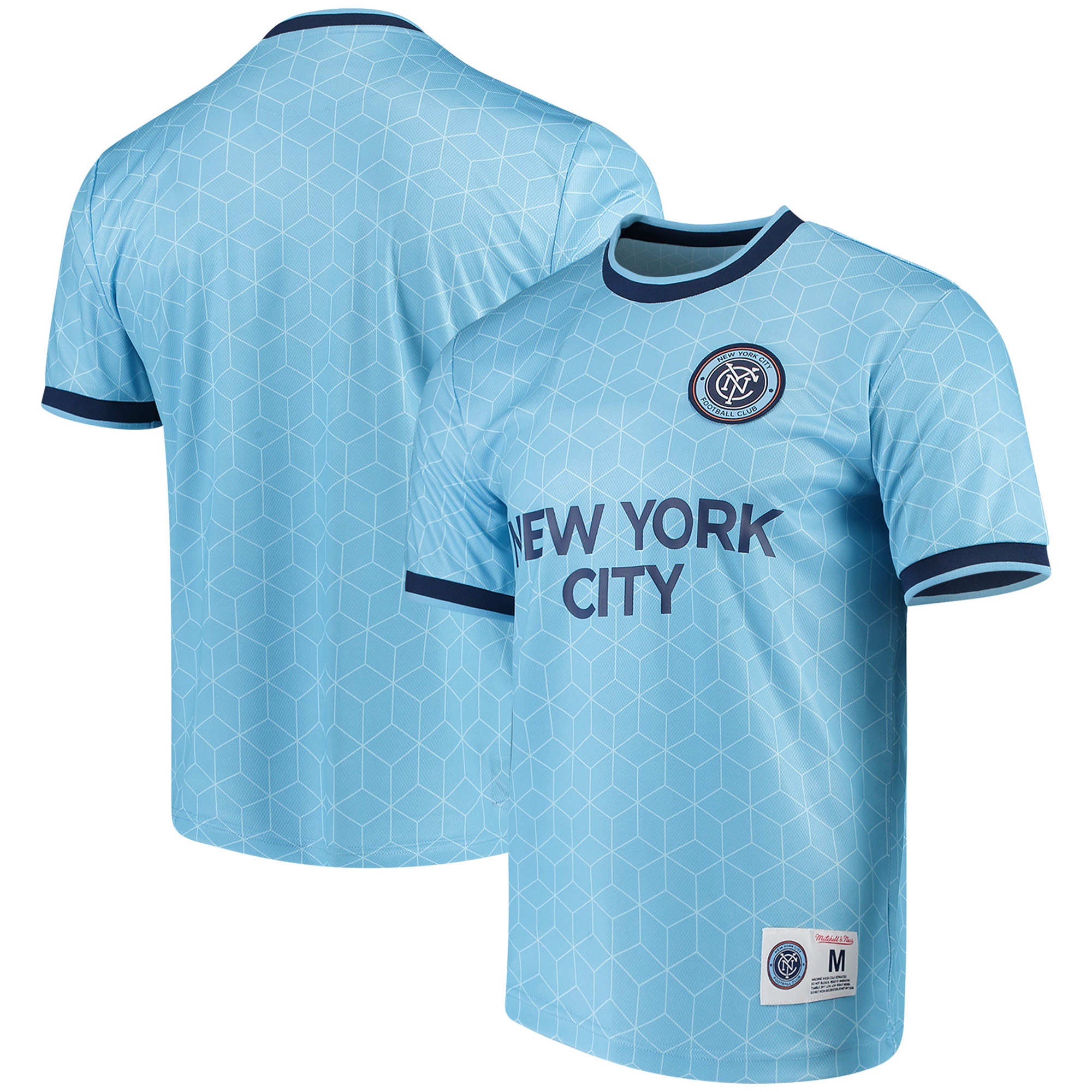 New York City FC Mitchell & Ness Equaliser T-Shirt - Light Blue