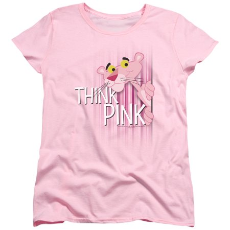 Trevco PINK PANTHER THINK PINK Large Pink Adult Female T-Shirt](Adult Female)