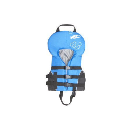 X2O Universal Open-Sided Blue Life Vest for Infants 0-30 lbs - Kids Fbi Vest