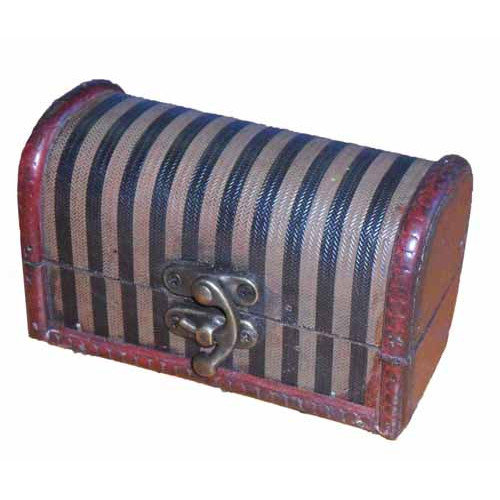 Quickway Imports Decorative Wood Mini Trunk
