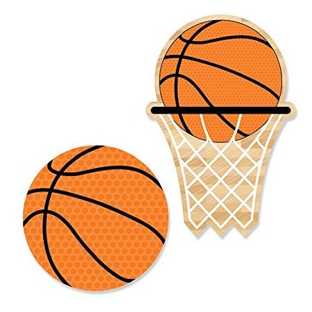 Nothin' But Net - Basketball DIY Shaped Party Cut-Outs - 24 Count (Basketball Party Decor)