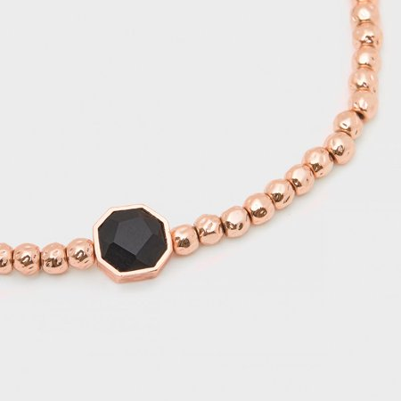 Gorjana Gorjana Power Gemstone Black Onyx Charm Rose Gold Bracelet 18920125rpkg Walmart Com Walmart Com