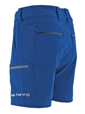 Huk Men/'s Rogue Scuba Blue Size Large Adjustable Waistband Shorts