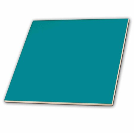 3dRose Plain teal blue - simple modern contemporary solid one single color - turquoise blue-green - Ceramic Tile, 4-inch (Color Ceramic Tiles)