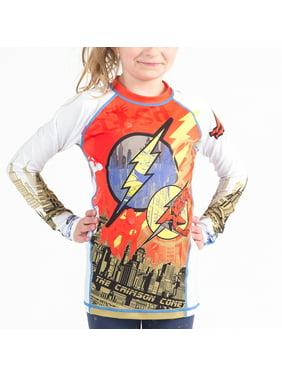 Fusion Fight Gear Kid's The Flash Crimson Comet Long Sleeve Rashguard - Large