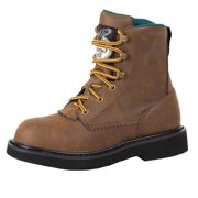 """Georgia Work Boots Boys 7"""" Lacer Manmade Upper Pillow Top Brown G097"""