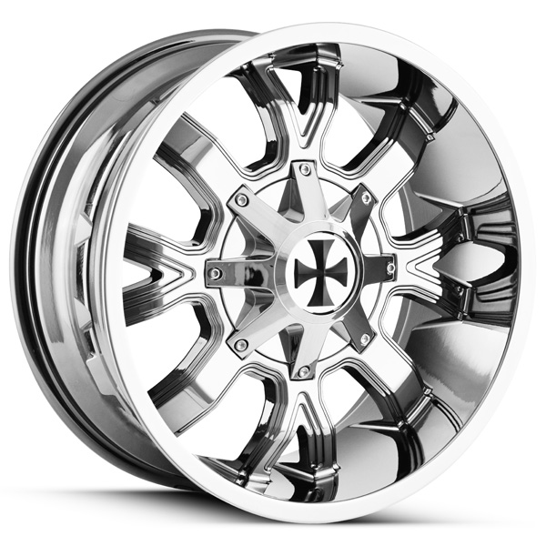 "20 Inch Cali OffRoad 9104 Dirty 20x9 6x135/6x5.5"" +18mm PVD Chrome Wheel Rim"