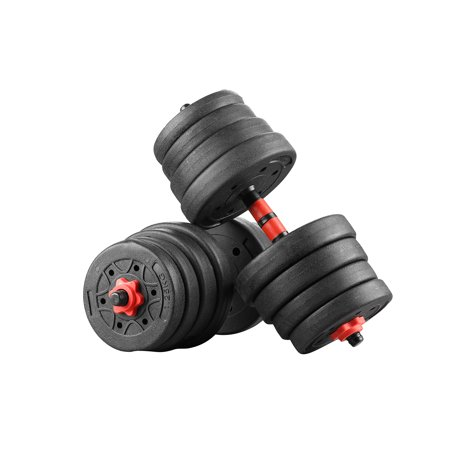 Ainfox Exercise Dumbbells Set, Adjustable Weight 22/33/44/55/66/88LBS Strength Training Equipment Barbell for Home Gym
