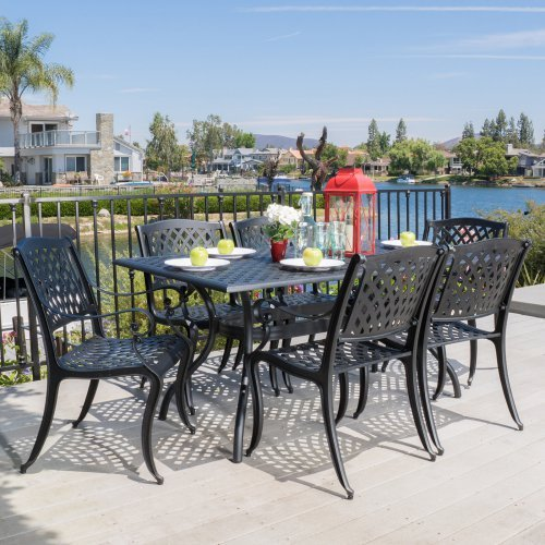Best Selling Home Bodden 7 Piece Aluminum Patio Dining Set