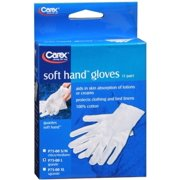 2 Pack - Carex Soft Hand Gloves Large P75-00 1 Pair