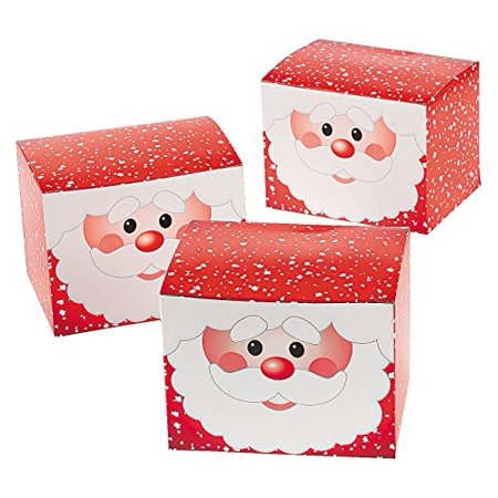 1 Dozen - Santa Gift Treat Boxes - Christmas Santa Claus Boxes for Presents and Candy - Cheap Xmas Gift Boxes