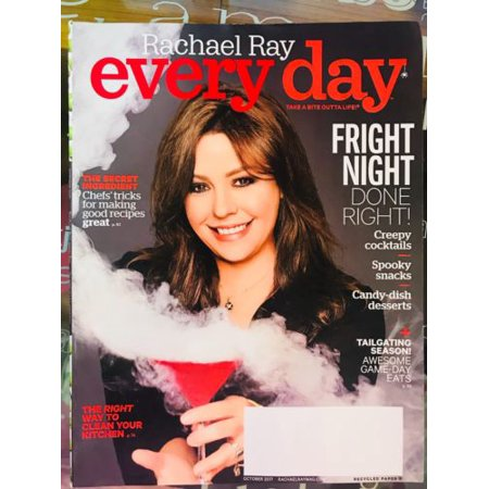 RACHAEL RAY EVERY DAY MAGAZINE FRIGHT NIGHT HALLOWEEN CREEPY COCKTAILS OCT 2017