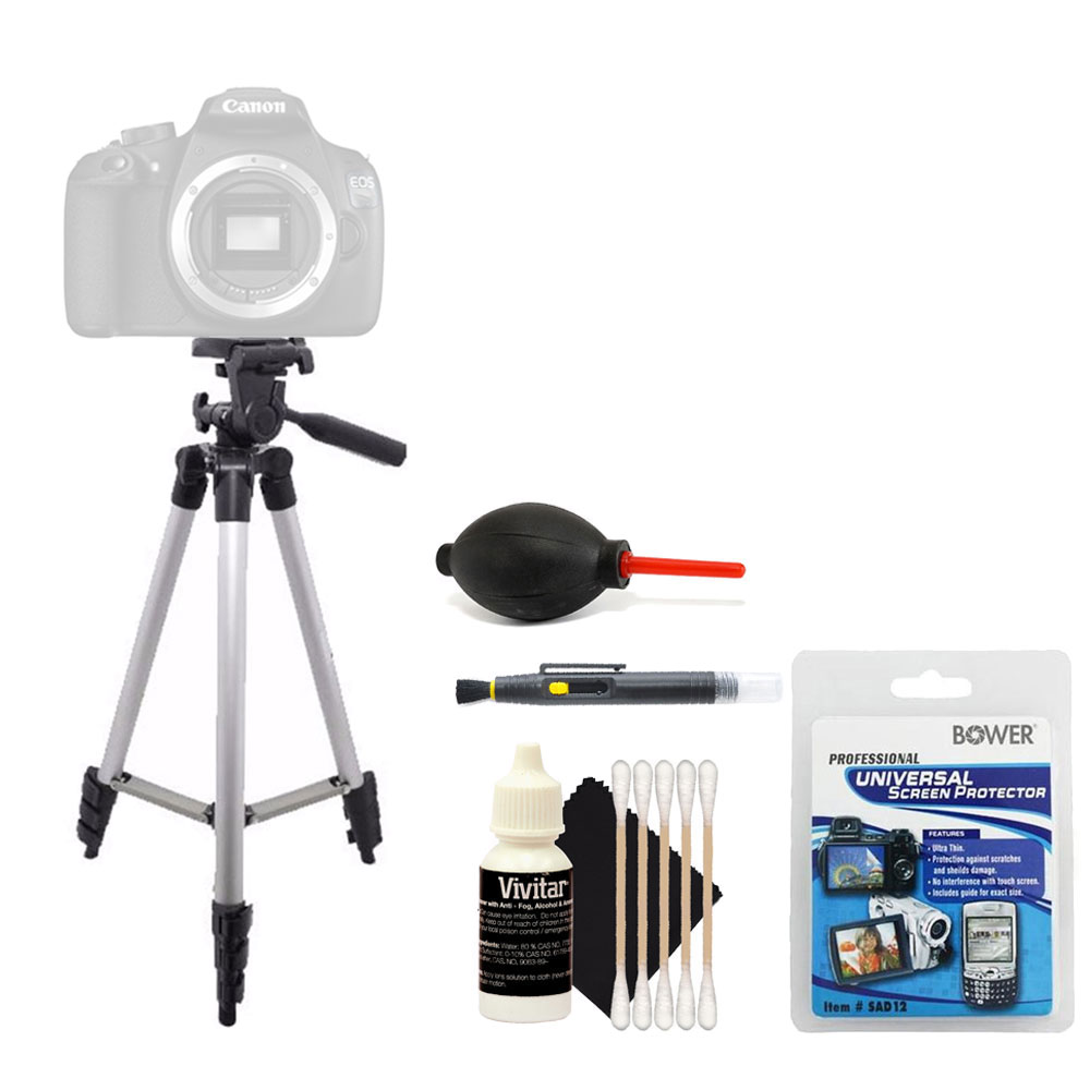 Tall Tripod with Top Cleaning Accessory Kit for Canon EOS 70D 80D 1300D and All Digital Cameras
