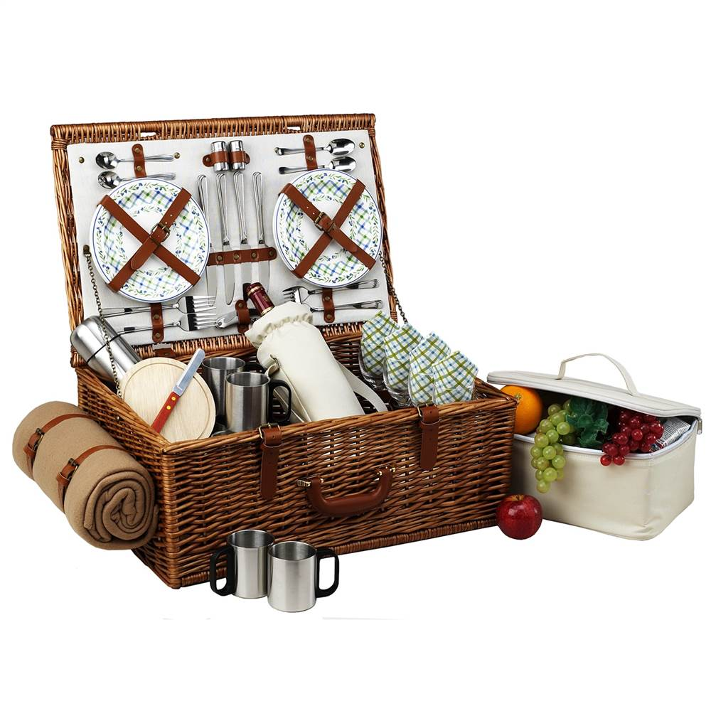 Dorset Gazebo Picnic Basket for Four with Coffee Set and Blanket