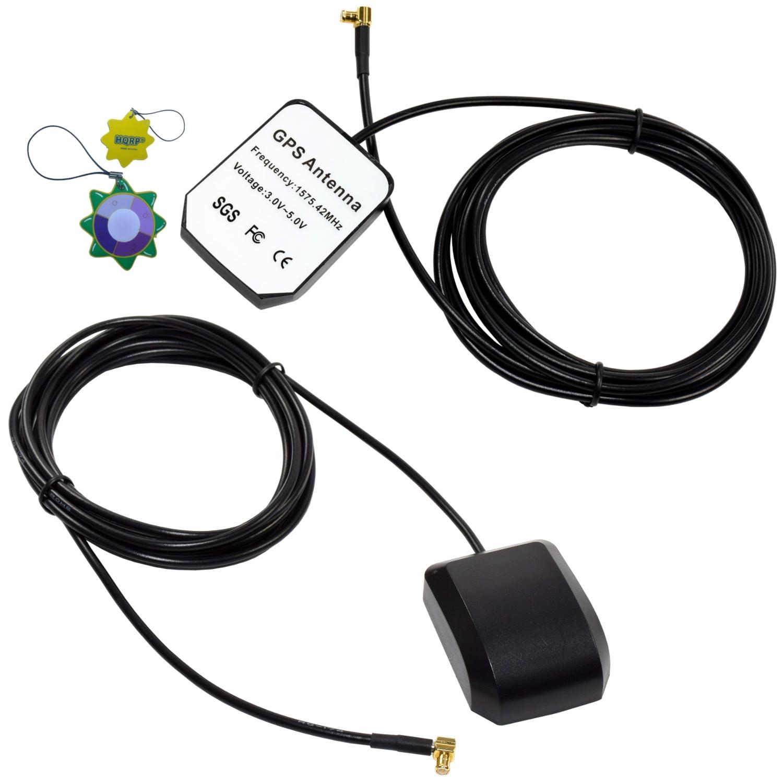 HQRP KIT: 2 PCS External GPS Antennas for ATTI Shadow Tracker J2 (J2) / ATTI Shadow Tracker 2000 (2000) / ATTI Shadow Tracker Premier (Premier) Antenna Replacement + HQRP UV Meter