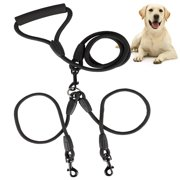 Double Dog Leash, Dual Dog Walking Leash No Tangle 360° Swivel, Shock Absorbing Training Leash with Foam Soft Handle, Heavy Duty Dual Leash for Two Dogs, 70.87in/180cm Double-Head Pet Traction Rope