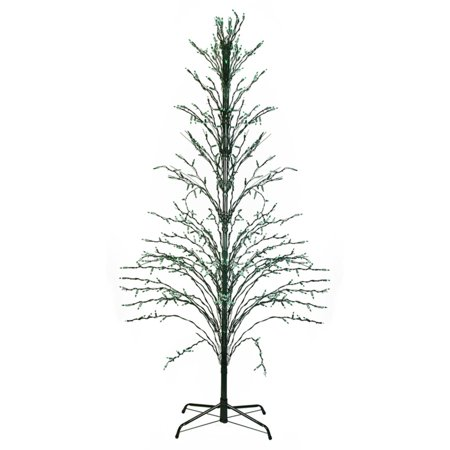 Christmas Decorations Outdoors (Northlight 4 ft. Green Lighted Christmas Cascade Twig Tree Outdoor Yard Art)