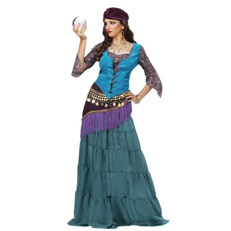 Fabulous Fortune Teller Gypsy Womens Plus Size Costume (Fortune Teller Halloween Decoration)