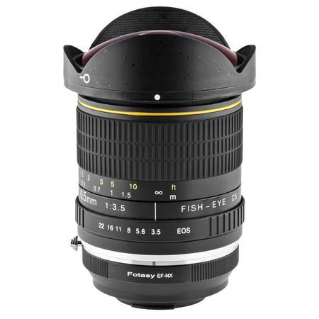 Opteka 6.5mm f/3.5 HD Aspherical Fisheye Lens with Removable Hood for Fuji X-Pro1, X-T1, X-E2, X-E1, X-M1, X-A2, and X-A1 FX Digital Mirrorless