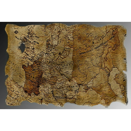 LAMINATED POSTER Old Treasure Map Map Antique Poster Print 24 x 36